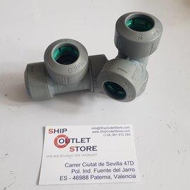 Hep2O Hep2O Racor de T 22  x 22 x 22 mm
