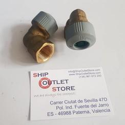 "Hep2O Elbow adaptor 15mm x 1/2"" male"