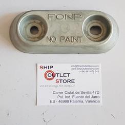 FONP Ánodo de casco de zinc 150 x 80mm 1 kg