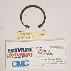 912992 Evinrude Johnson OMC Anillo de retención de la bota de escape