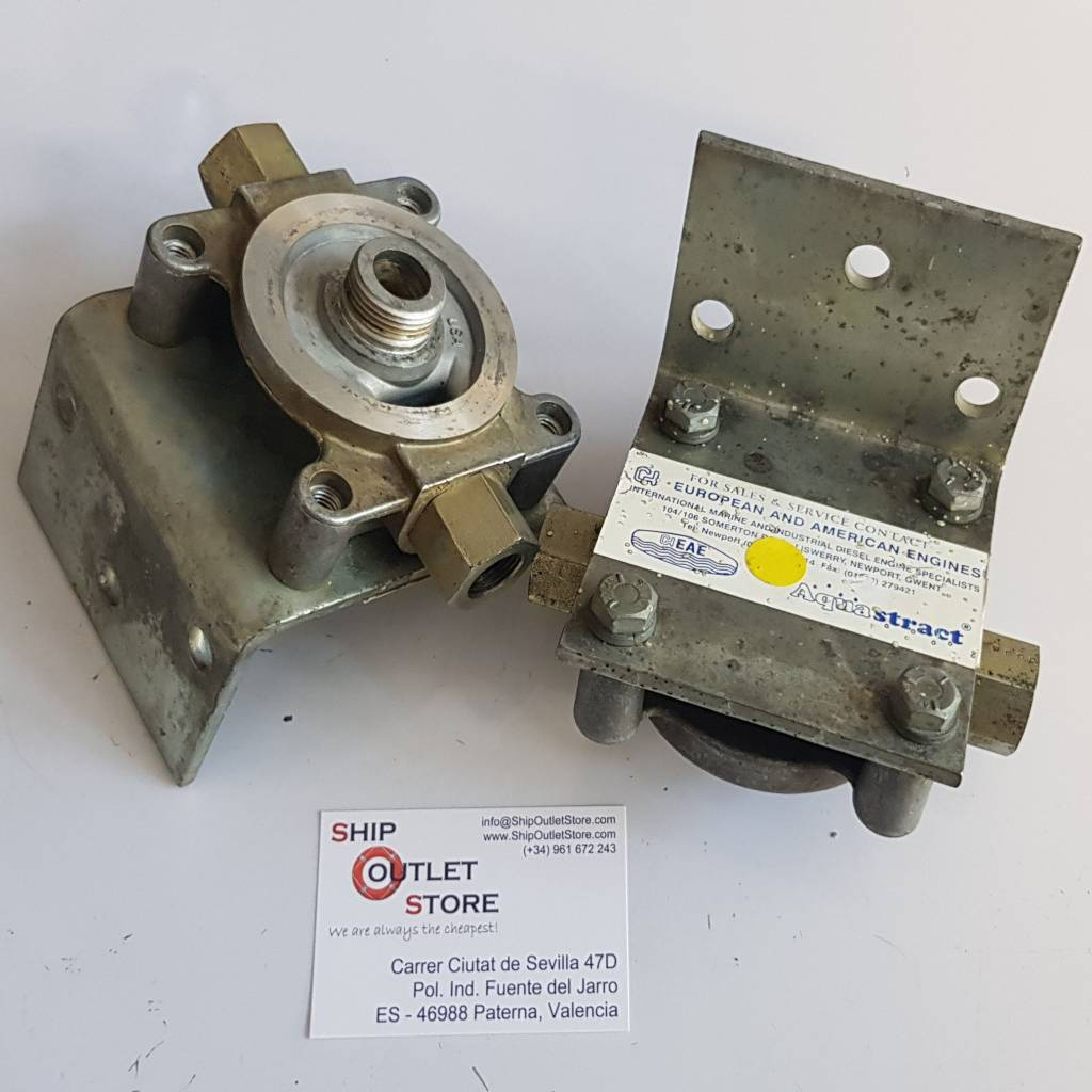 Fuel Filter Head With 3 8 Connection And Bracket Sos Ship Outlet Boat Filters Aea Marine