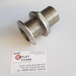 Thru hull with nut Inox 1 1/2""