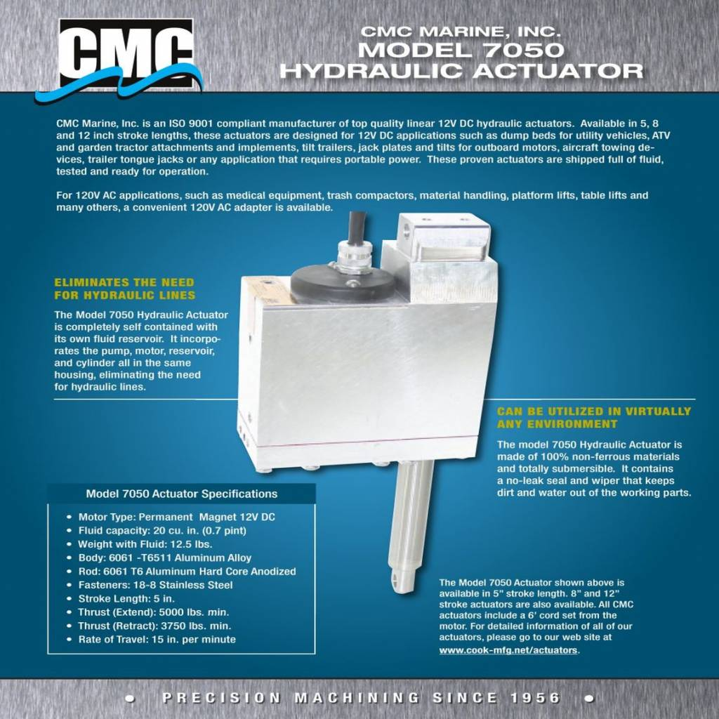 Standard Power Lift Actuator 7050d Cmc