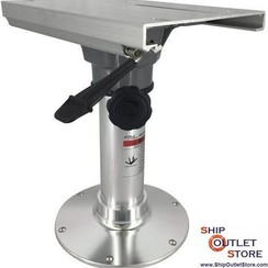 Pedestal fixed height of 422mm  with swivel & slider 73259