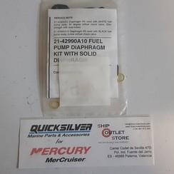 21-42990A10 Mercury Quicksilver Kit de diafragma de bomba de combustible