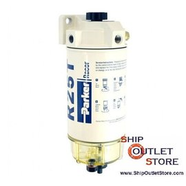 Fuel filter with water seperator and plunger priming  Racor 245R2