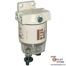 Fuel filter with water seperator and plunger priming  Racor 120AS
