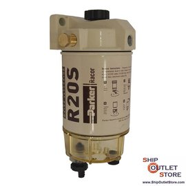 Fuel filter with water seperator and plunger priming  Racor 230R2