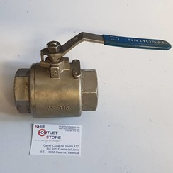 "Ball valve stainless steel 2"" 1000 WOG 316"