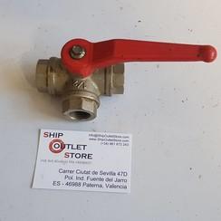 T - Ball valve brass