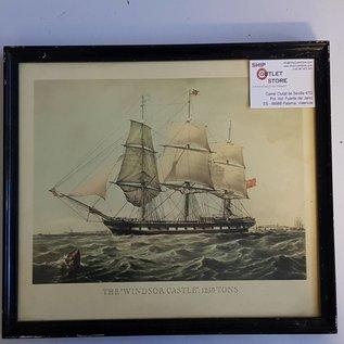 """Grabado antiguo en el marco del """"Castillo de Windsor 1857"""""""