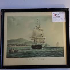 """Oude prent in lijst van de """"Lord Lother 1825"""" Afmeting 430 x 320mm"""