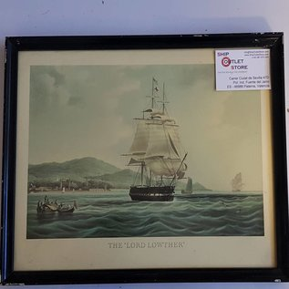 """Old print in frame of the """"Lord Lother 1825"""" Dimensions 430 x 320mm"""