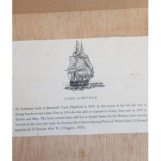 """Grabado antiguo en el marco del """"Lord Lother 1825"""" Dimensions 430 x 320mm"""