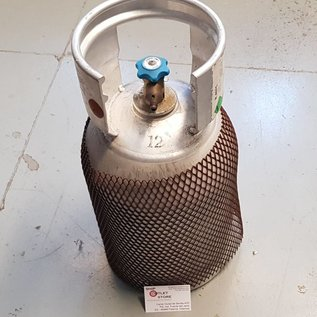 Aluminum gas cylinder for refrigerant gas R407C