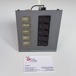 DC switch panel with 5 fuses Mastervision Mastervolt