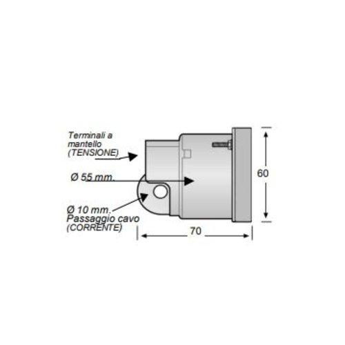 Eleberg Digitale paneel voltmeter 190 - 280V Eleberg E-5632