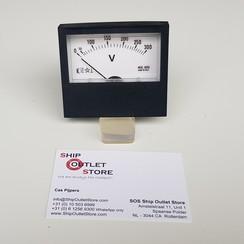 Voltímetro de panel 0 - 300V AC 74 x 64 mm