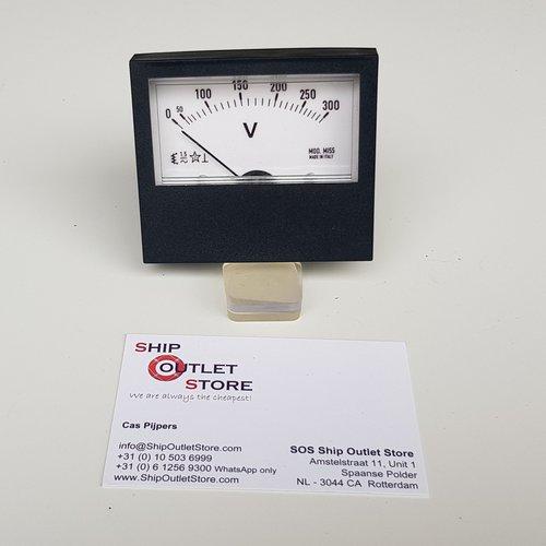 MOD Paneel voltmeter 0 - 300V AC 74 x 64 mm