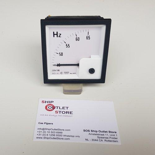 FAEM Paneel frequentiemeter 45- 65 Hz 220 - 380V