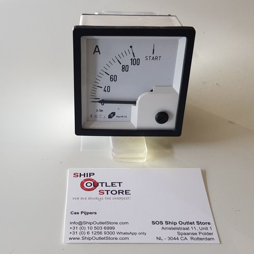 MOD Paneel ampere meter met trafo 72 x 72 mm