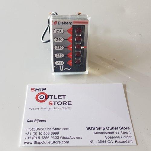 Eleberg Digitale paneel voltmeter 200 - 250V Eleberg E-282