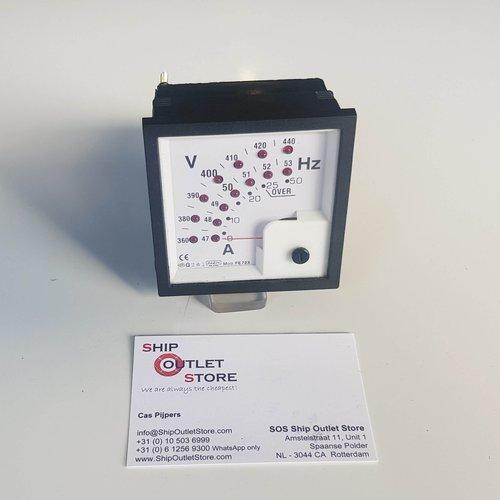 FAEM Medidor de panel combi Volt, Ampere y Hertz FAEM modelo FE723