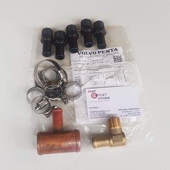 Hot water connection set for water heater Volvo Penta 21339078