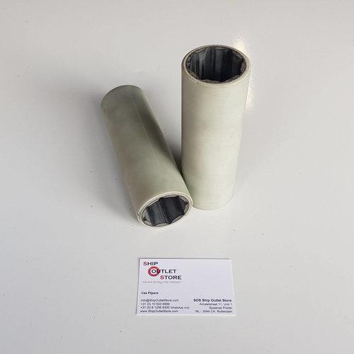 Casquillo de cojinete de nitrilo lubricado con agua con cubierta exterior de poliéster 40 x 55 mm