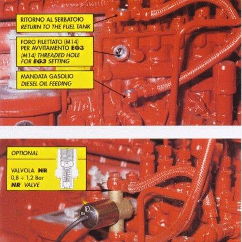 CEI Electroválvula de combustible de 3 vías para motores diésel 24V 6W EG3 C.E.I.