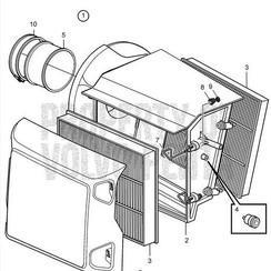 Unidad de filtro de aire Volvo Penta 22116375