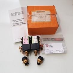 Dubbele solenoid relais schakelaar 12V Vetus