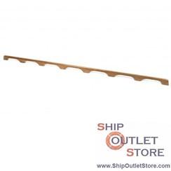 Teak handrail 185 cm with 7 handles ARC