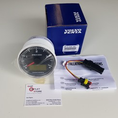 Toerenteller  EVC  4000 rpm Volvo Penta 21628160