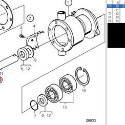 Repair kit water pump Volvo Penta 21951461