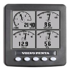 """Informatie display (zwart/wit) 4"""" Volvo Penta"""