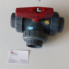"3-way Ball valve 1 1/2"" PVC-U DIN40"