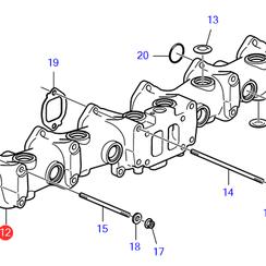 Exhaust manifold Volvo Penta 23118827