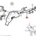 Volvo Penta T-cooling water pipe Volvo Penta 840722
