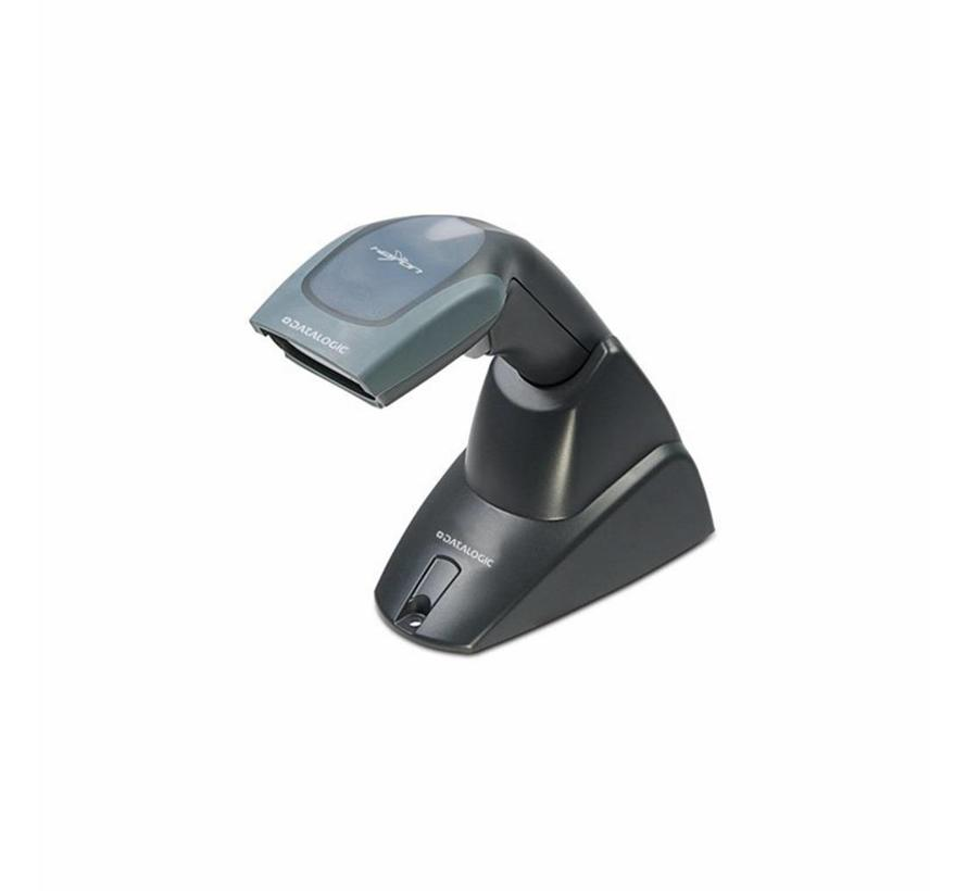 Datalogic Heron D130 barcode scanner with USB-cable and stand