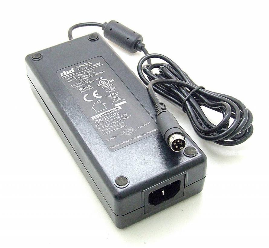 Original RBD fuente de alimentación  RA07-12833 12V 8,33A 100W