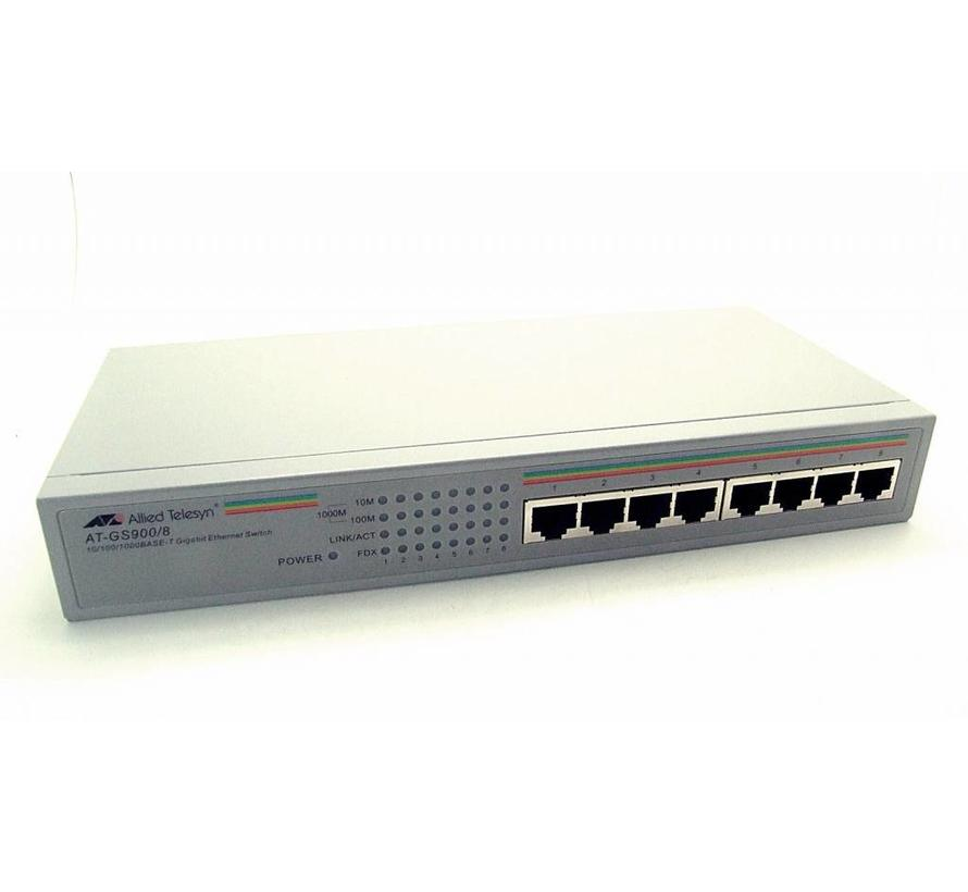 Allied Telesyn AT-GS900/8 Gigabit Ethernet Switch AT-GS908L 8-Port