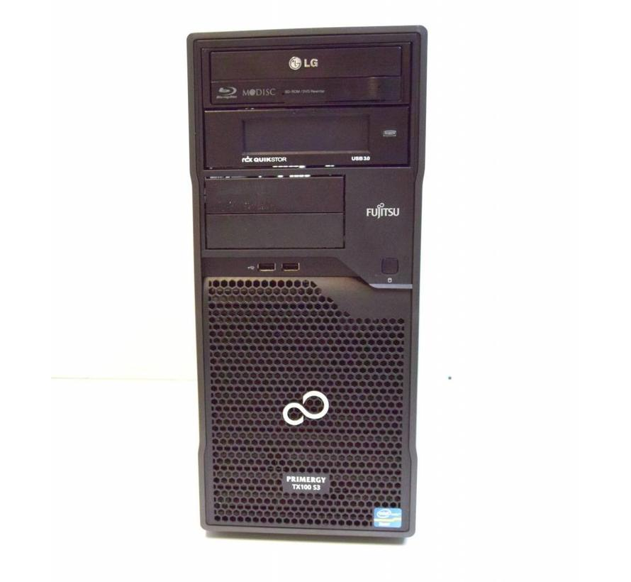 Fujitsu Primergy TX100 S3 S3P Servidor Xeon E3-1220 3.1GHz 4GB 2x 320GB HDD BD / DVD