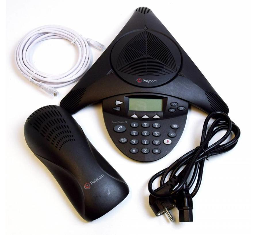 Polycom SoundStation 2 Teléfono de conferencia extensible Pantalla de teléfono de conferencia