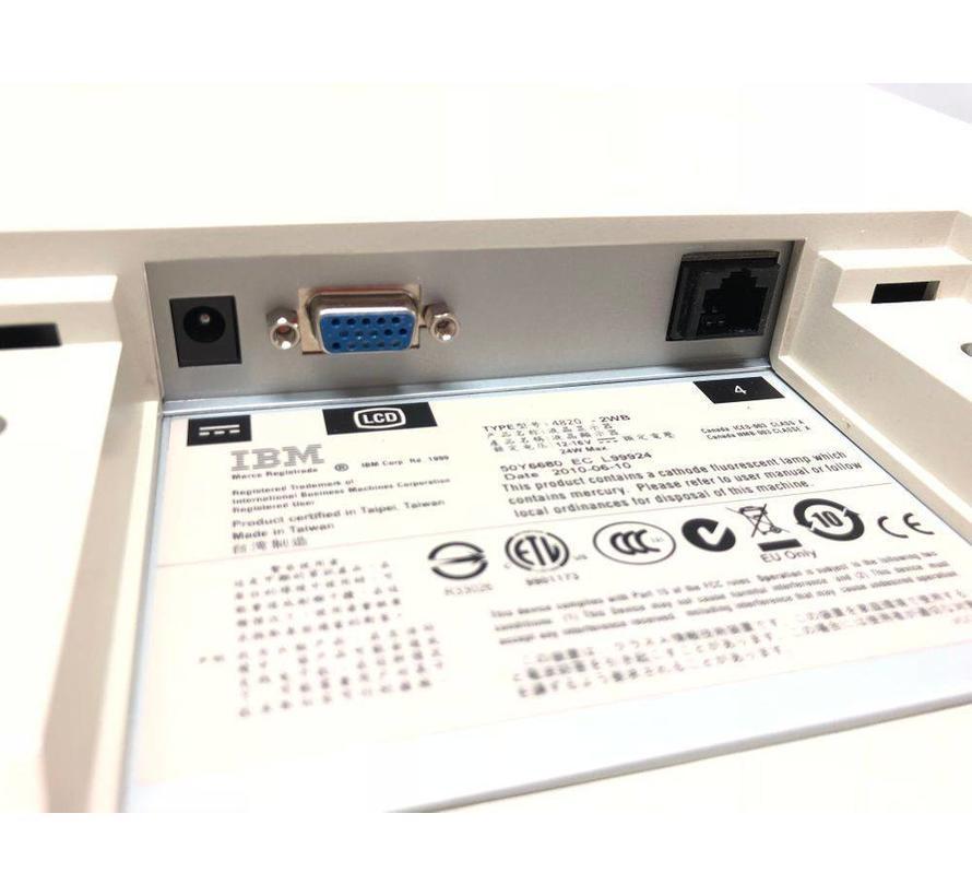 """IBM 4820-2WB SurePoint TFT de monitor táctil de 12 """"sin soporte / fuente de alimentación blanco"""
