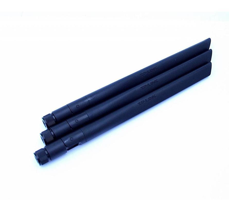3 x Original TP-LINK WLAN Antenna for TD-W9980 B / TD-W8980 B / TD-W8970 B