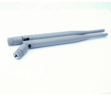 TP-Link 2 x Original TP-LINK WLAN Antenne für TD-W9970 / TD-W8968 / TD-W8960N grau