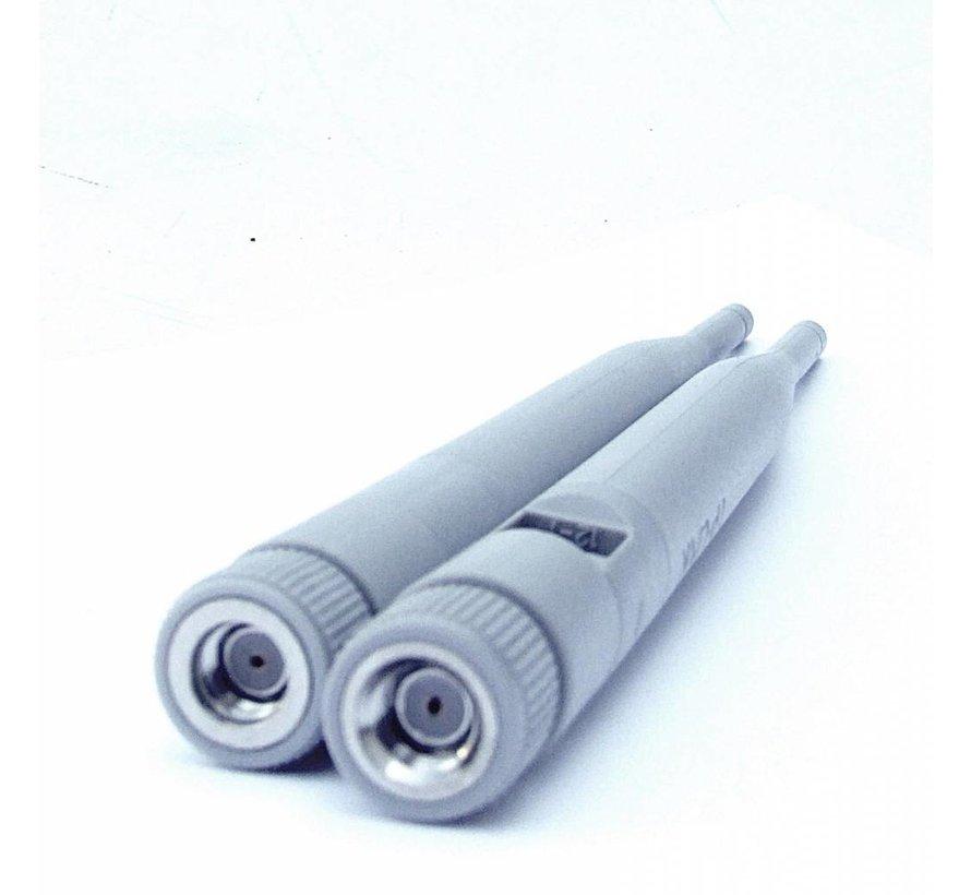 2 x Original TP-LINK WLAN Antenne für TD-W9970 / TD-W8968 / TD-W8960N grau