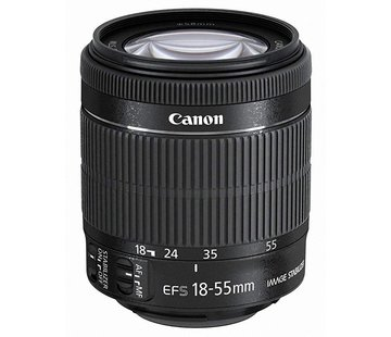 Canon Canon EF-S 18-55 mm 1: 3.5-5.6 IS STM (Hilo de filtro de 58 mm) Negro