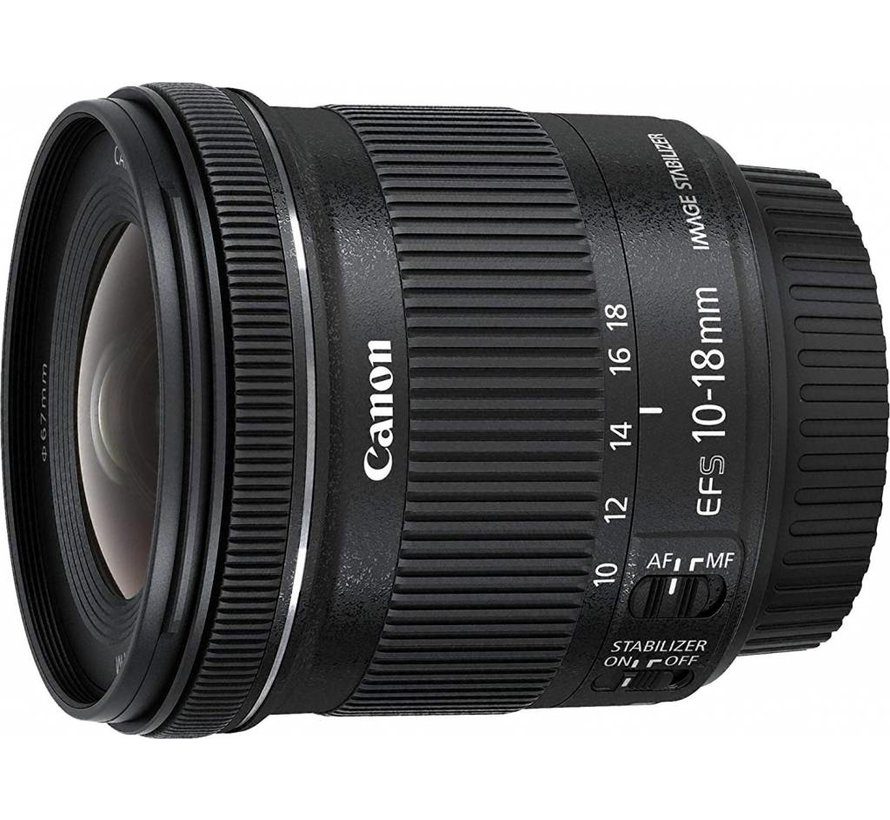 Canon EF-S 10-18 mm 1: 4.5-5.6 IS STM objetivo negro